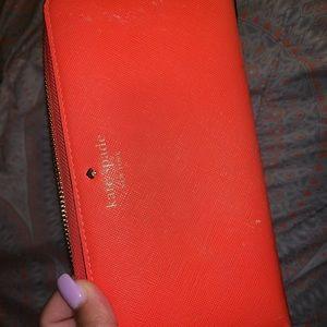 Orange Kate Spade wallet